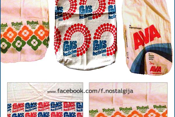 Nekada davno, prašak za veš se pakovao i prodavao u platnenim vrećicama: Imate li neku od ovih krpa?