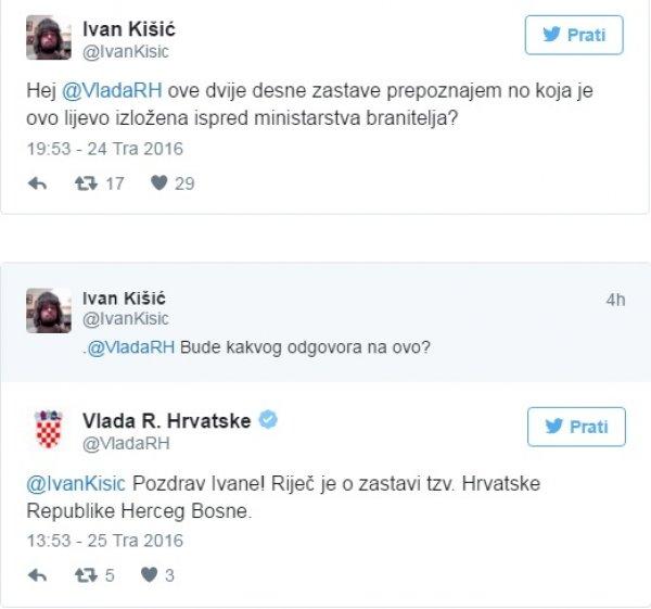 Skandal U Zagrebu Zastava Herceg Bosne Viori Se Ispred