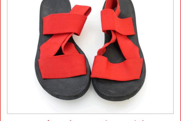 Ove jednostavne sandale sa tri elastične trake bile su popularne tokom 80-ih