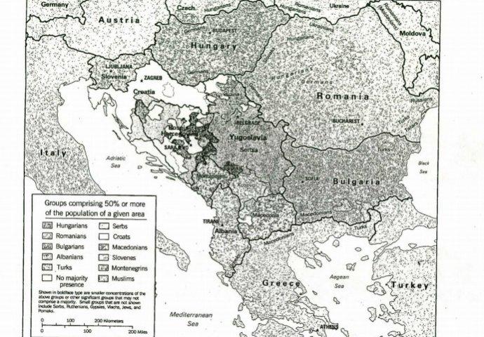 Etnička mapa Balkana