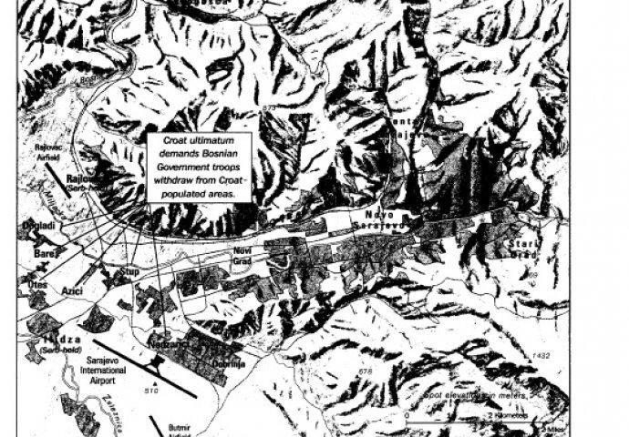 Mapa Sarajeva i okolice