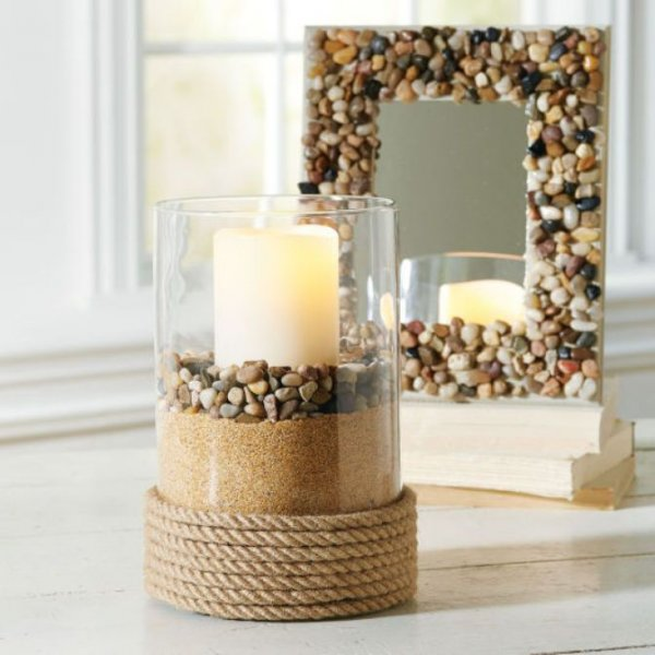 diy-river-rock-mirror-candles-pinterest-river-rocks-rocks-and-river-rock-home-decor