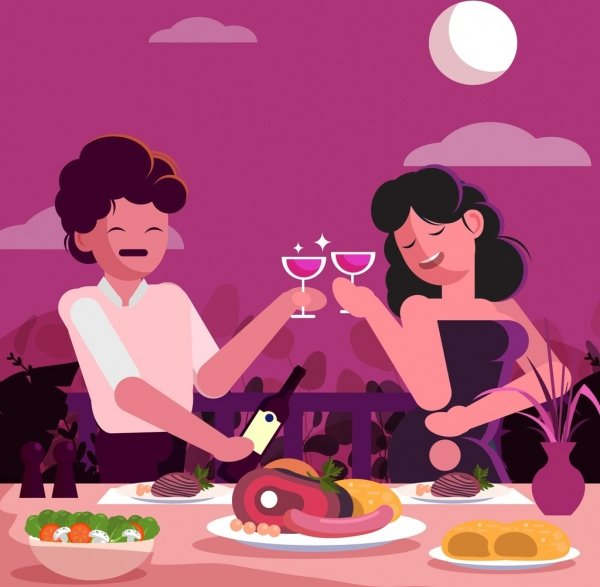 romance-background-couple-food-dining-table-icons-decor-6838295