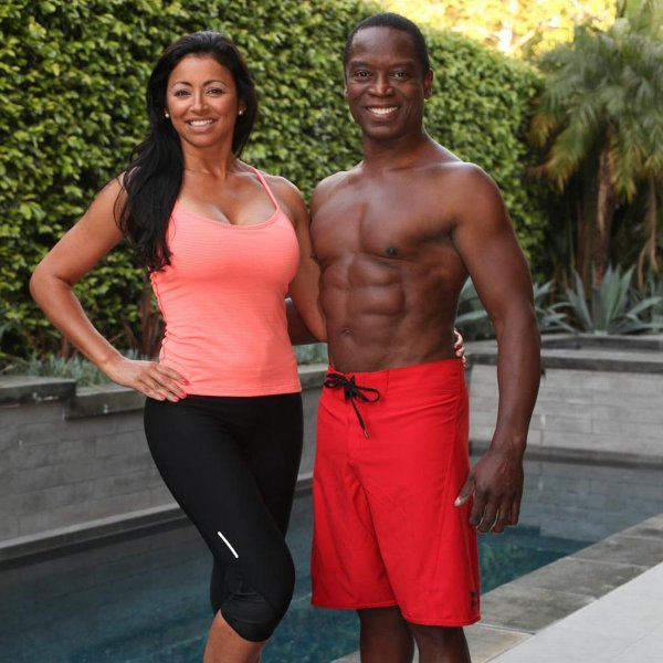 dr-david-matlock-with-his-wife-veronica-by-their-swimming-pool-in-los-angeles
